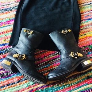 🐘 Winchell Vince Camuto Leather Moto Boots 7.5🐘